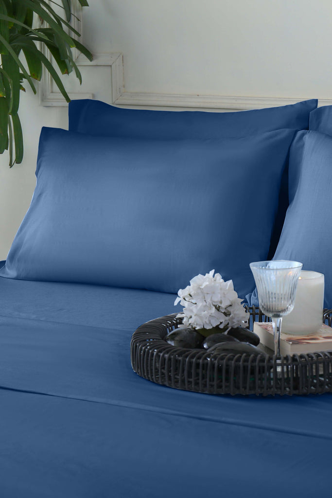 Navy Peony - Fitted Sheet