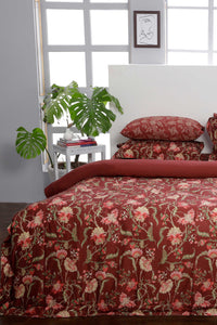 Floral Fiesta Red- Quilt Cover