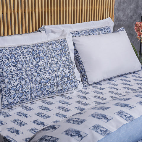 Blue Pottery - Bed Sheet