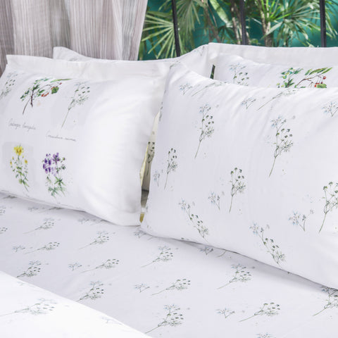 Botanical Flower - Bed Sheet