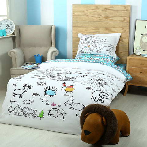Zoo Doodle Bed Sheet