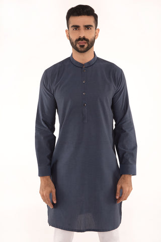 Blue & Black Kurta