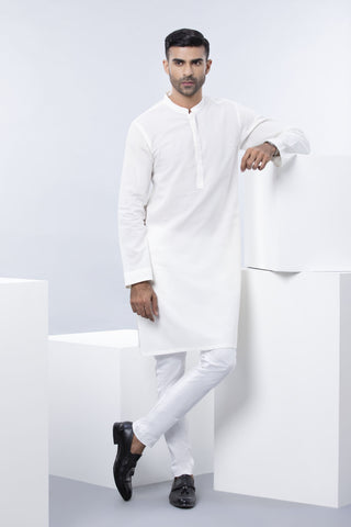 Plain White Kurta