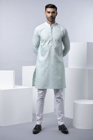 Subdued Aqua Kurta