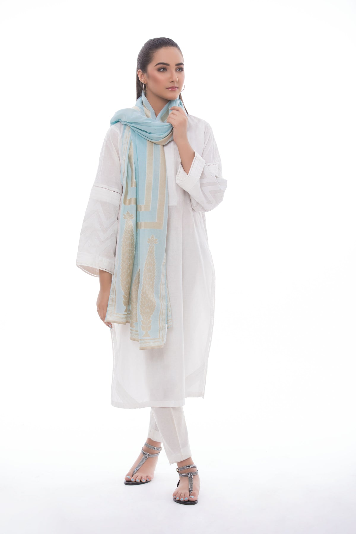 Lurex Wrap Light Blue