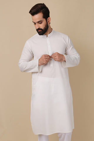 KS-072 - White Kurta - Rgl