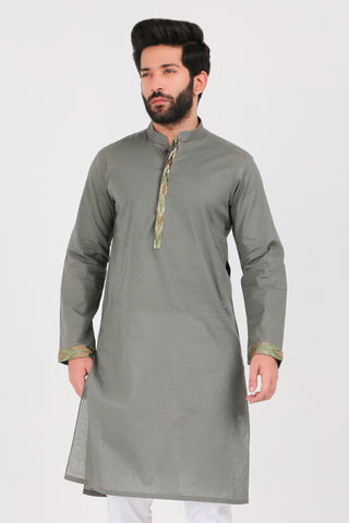Thyme Cotton Linen Kurta - REGULAR FIT