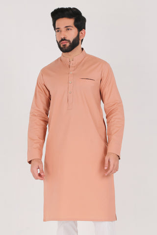 Café Au Lait Kurta - Regular Fit