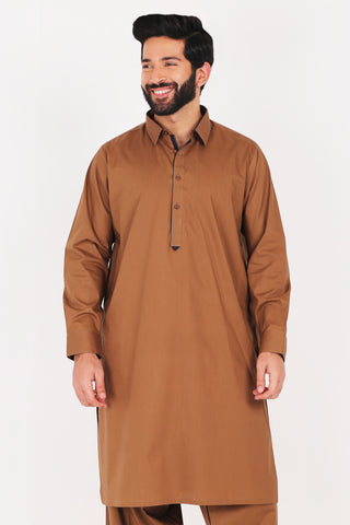 Saddle Brown Kurta Shalwar