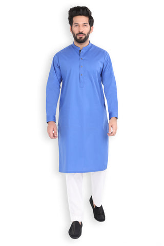 Turkish Sea Poplin Kurta