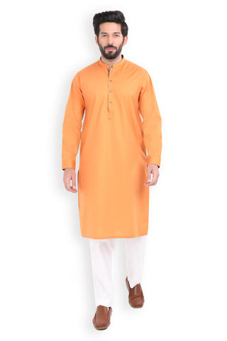 Burnt Orange Poplin Kurta