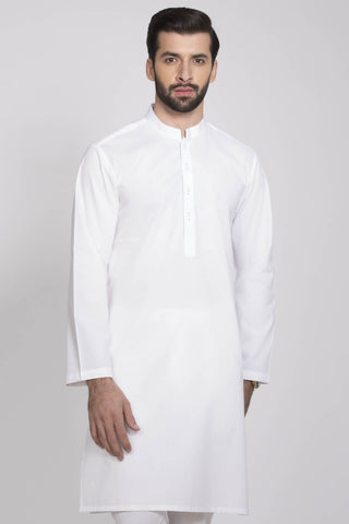 Simple White Kurta