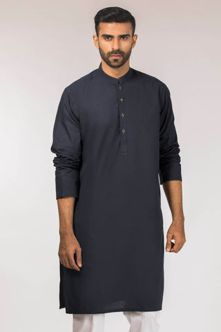 Clean Cut Navy Kurta