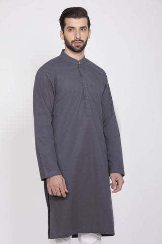 Simple Grey Kurta