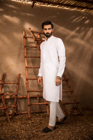 Basic White Kurta