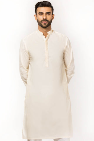 Cream Kurta with Embroidery