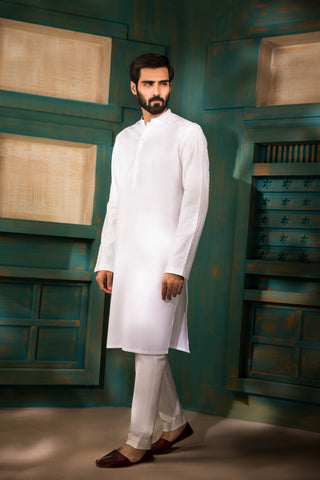 White Ready To Wear Kurta