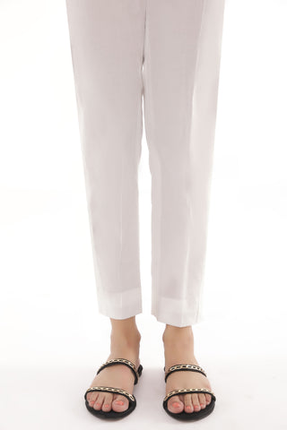 White Straight Pants