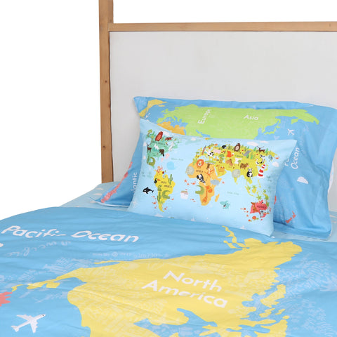Quilt Cover Continents Boys