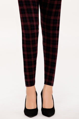 Maroon Plaid Tights