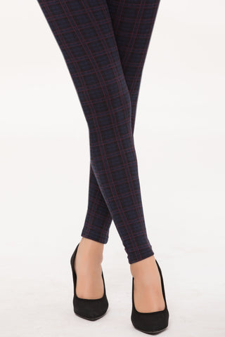 Bunrgundy Plaid Tights