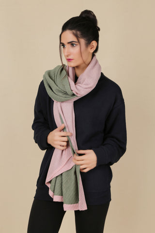 BW.120.PINK & DARK GREEN