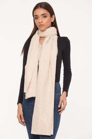 Cream Radiance Scarf