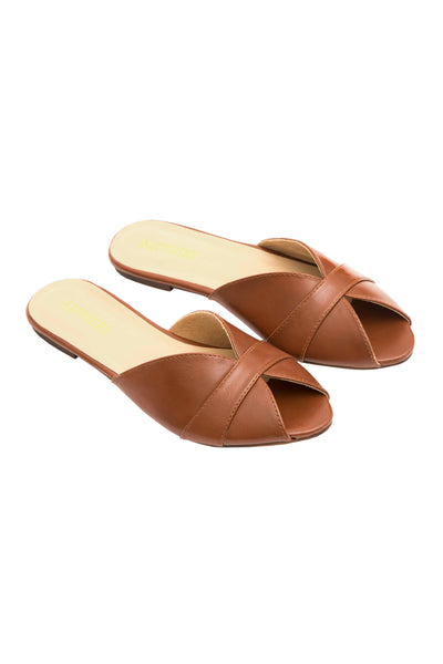 Brown Cross Over Slides