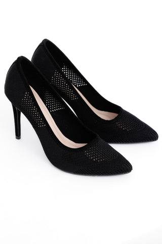 Black  Kitten Heel