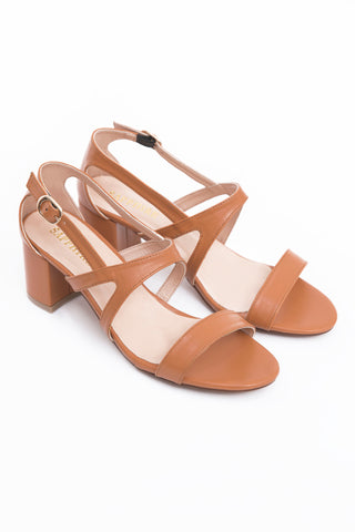 Tan Block Heel