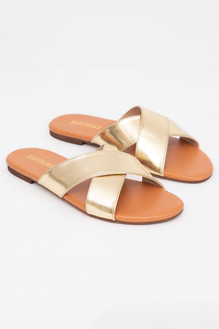 Rose Gold  Flat Slides
