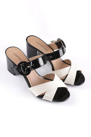 Black & White Block Heel