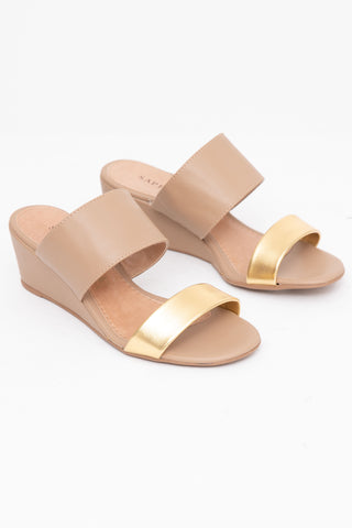 Areia Gold Wedge Heels