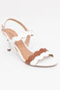 White & Tan High Heels