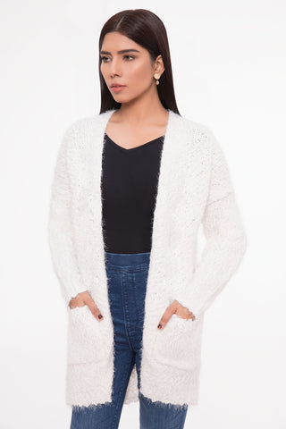 Soft Snow Cardigan