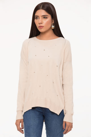 Ecru Pearls Sweater
