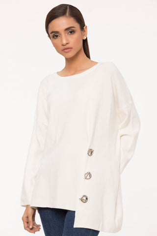 White Trendsetter Sweater
