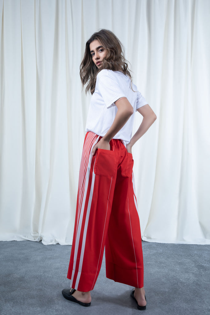 Red Flowy Pants