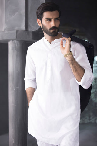White Stripes Kurta
