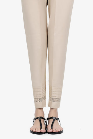 Beige Basic Pants