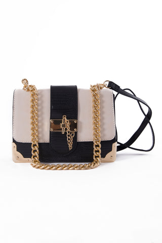 White & Black Cross Body Bag