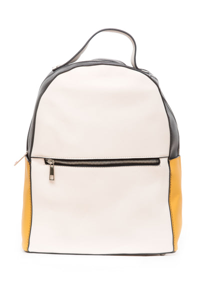 Off White & Mustard Backpack