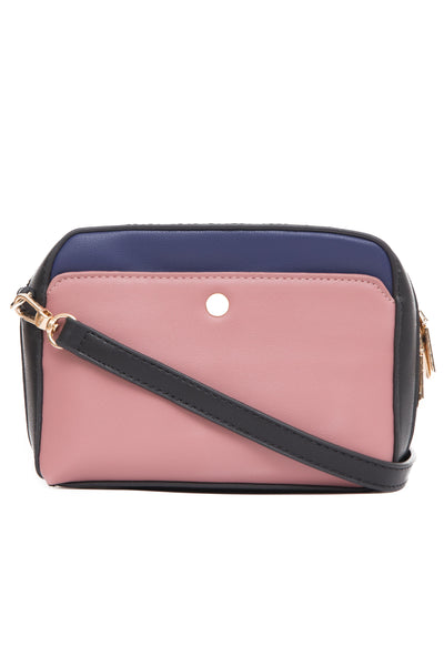 Black & Lilac Cross Body