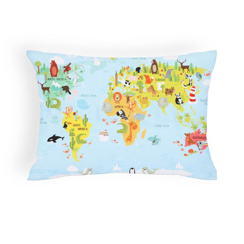 Map Boys Cushion Cover