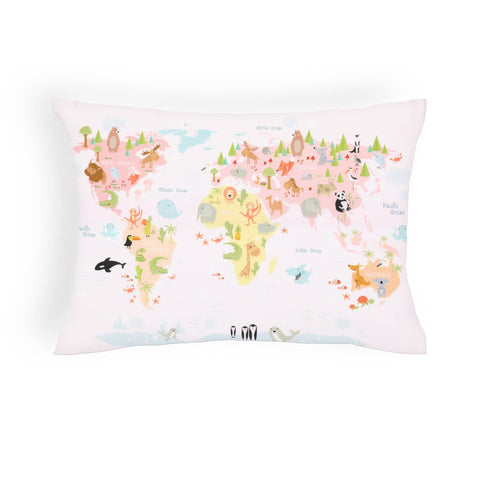 Map Girls Cushion Cover