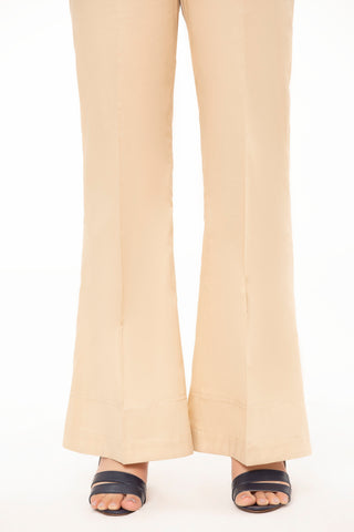 Beige Boot cut Pants