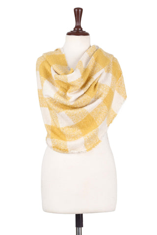 Scarf H.A.C-24-Yellow/White