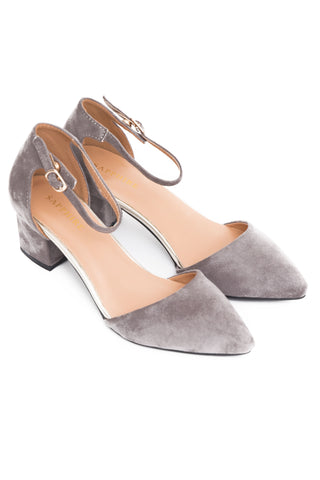 Grey  Block Heel