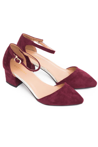 Red  Block Heel