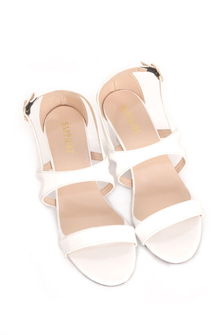 White Block Heel